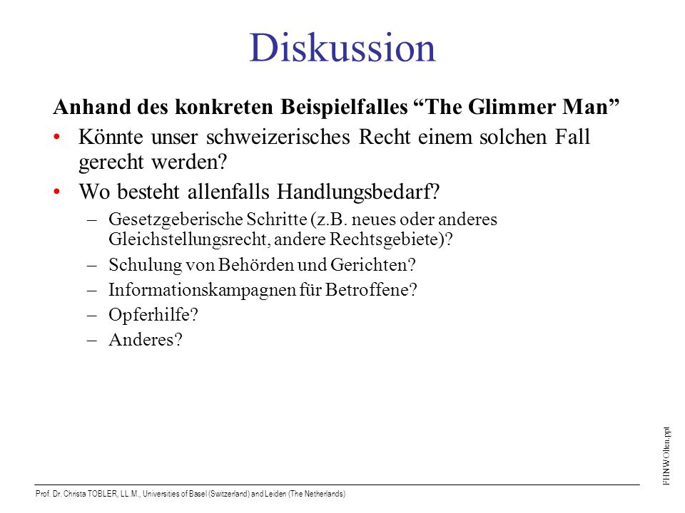 FHNW Olten.ppt Prof.Dr.