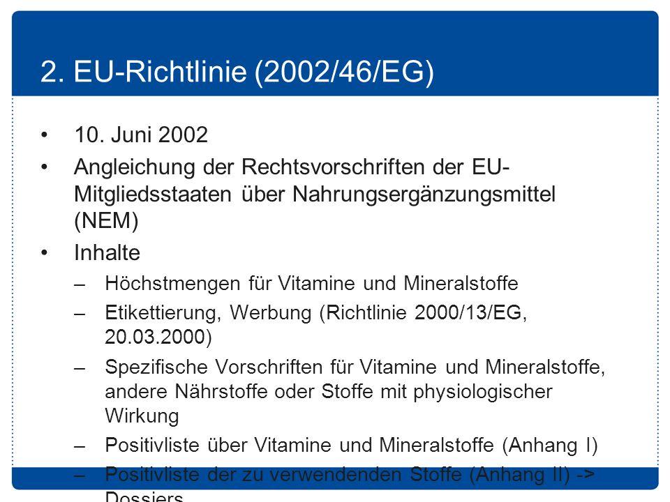 2.EU-Richtlinie (2002/46/EG) 10.