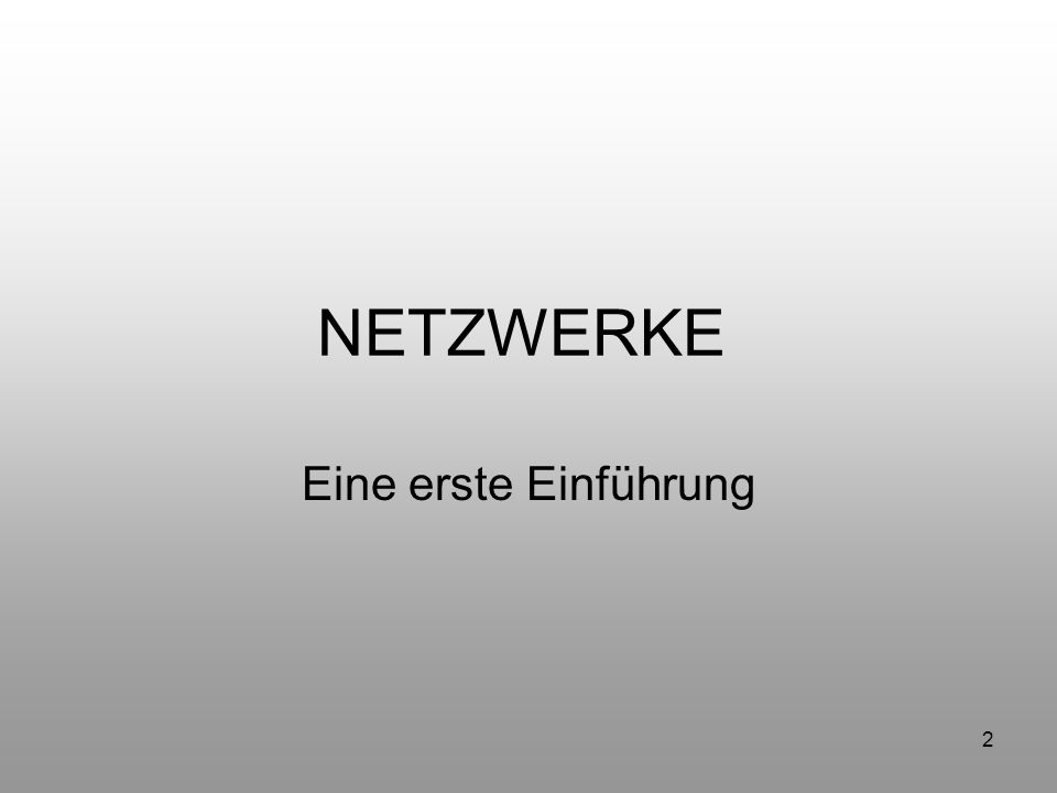 43 Protokoll TCP/IP (Transmission Control Protocol/Internet Protocol) Eine Protokollfamilie zum Verbinden von Computern in verschiedenen Netzen Kannst du mir sagen, Lets talk TCP/IP