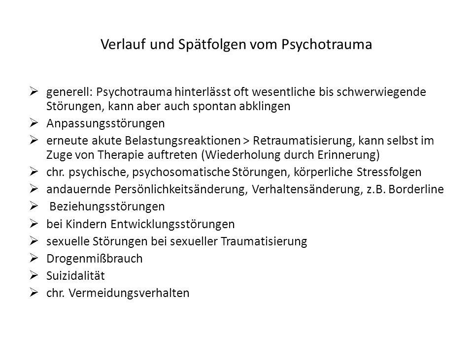 Neurobiologie von psychischer Traumatisierung -intensive Forschungen.