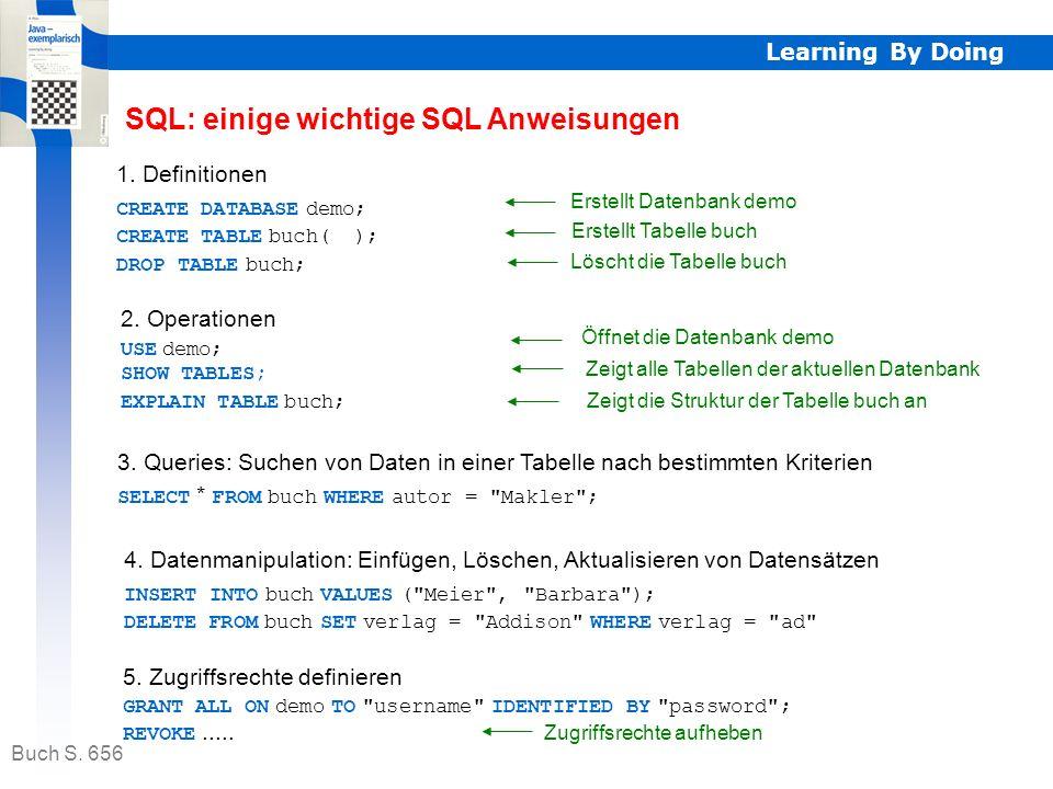 Learning By Doing Der Datenbankentwurf (Datenmodell) ist eine der wichtigsten Aufgaben, die der Datenbankentwickler zu erfüllen hat. Datenbankentwurf
