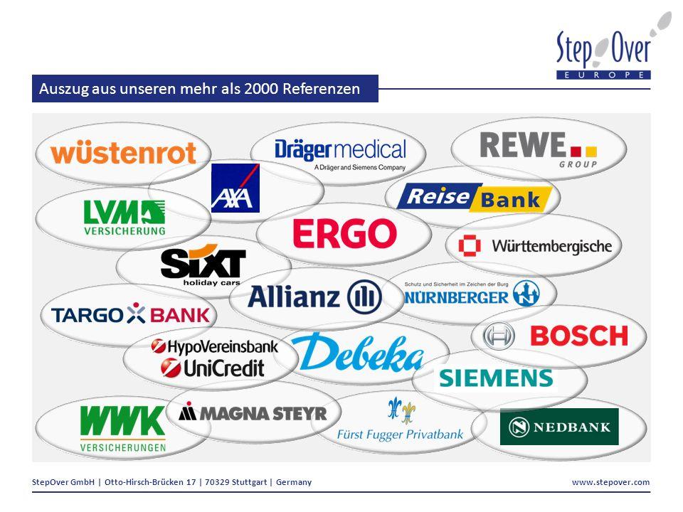 StepOver GmbH | Otto-Hirsch-Brücken 17 | 70329 Stuttgart | Germany www.stepover.com Auszug aus unseren mehr als 2000 Referenzen