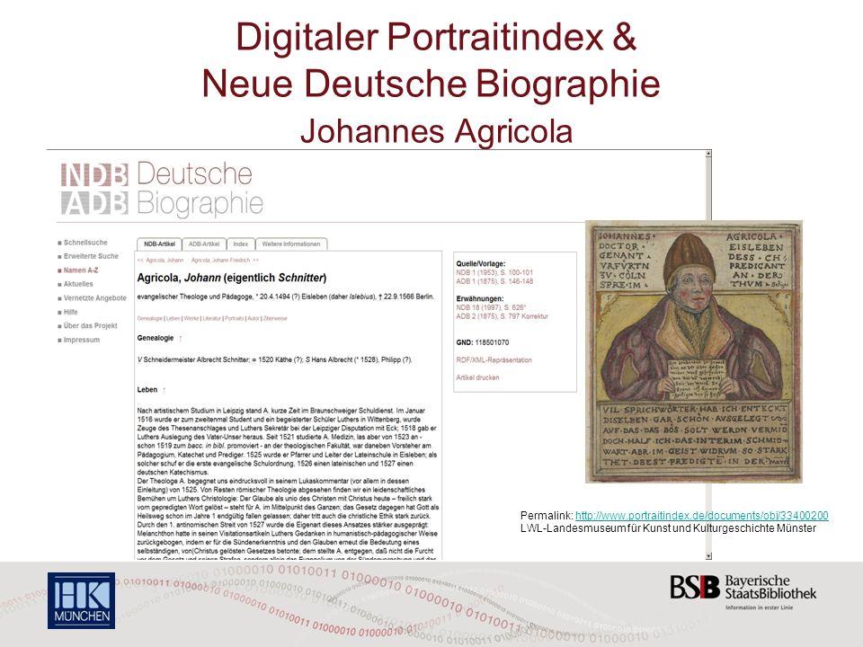 Digitaler Portraitindex & Neue Deutsche Biographie Johannes Agricola Permalink: http://www.portraitindex.de/documents/obj/33400200 LWL-Landesmuseum fü