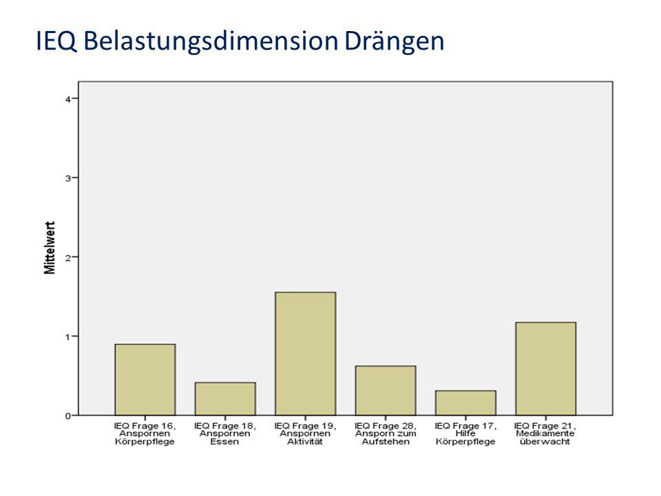 IEQ Belastungsdimension Drängen