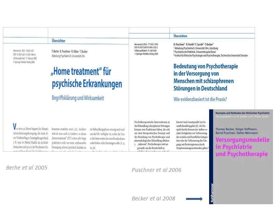 Puschner et al 2006 Berhe et al 2005 Becker et al 2008
