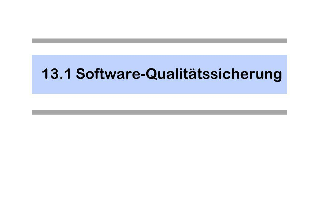 Software-Qualitätssicherung - 1 Die Bedeutung (2) ist obsolet, denn die Prozessbewertung ist zu einem eigenen Thema geworden.