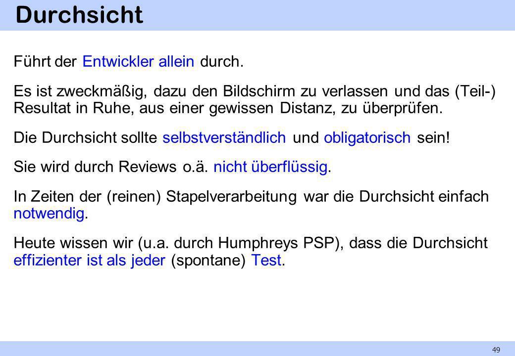 Stellungnahme Ein off-line-Review unter der Regie des Autors.