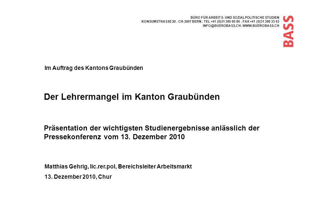 Seite 22 Gründe für Austritte aus dem Bündner Arbeitsmarkt für Volksschullehrer/innen 3.
