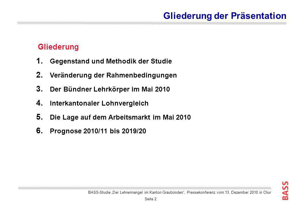 Seite 3 Gegenstand der Studie: Der Bündner Arbeitsmarkt für Lehrpersonen an der Volksschule Fragestellungen der Studie: Gibt es im Kanton Graubünden derzeit einen Lehrermangel.