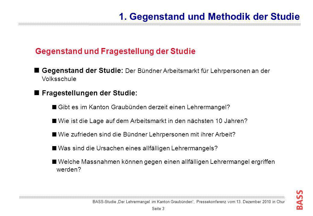 Seite 3 Gegenstand der Studie: Der Bündner Arbeitsmarkt für Lehrpersonen an der Volksschule Fragestellungen der Studie: Gibt es im Kanton Graubünden d