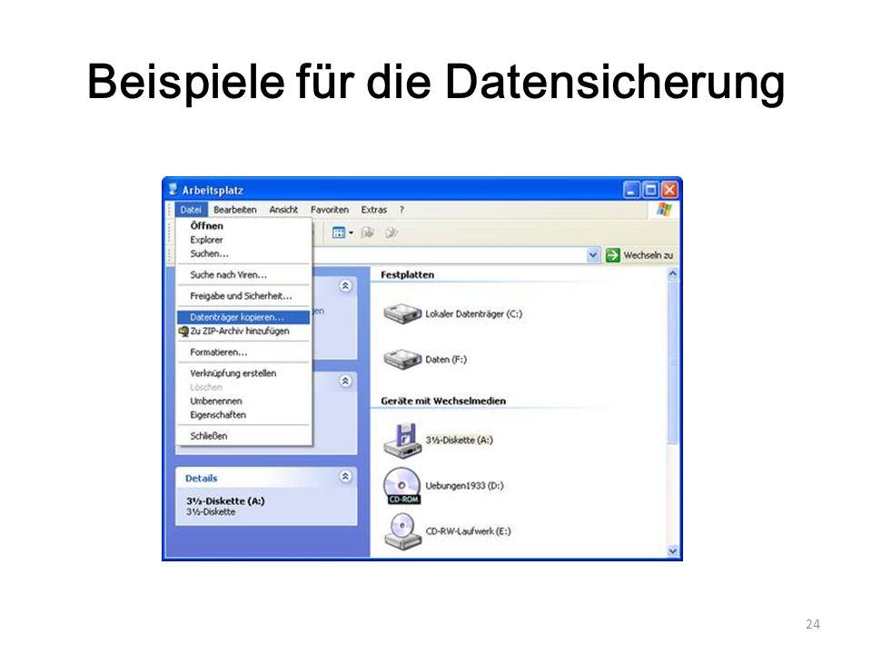 Beispiele für die Datensicherung 24