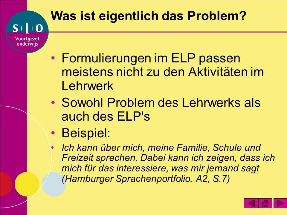 Was ist eigentlich das Problem.