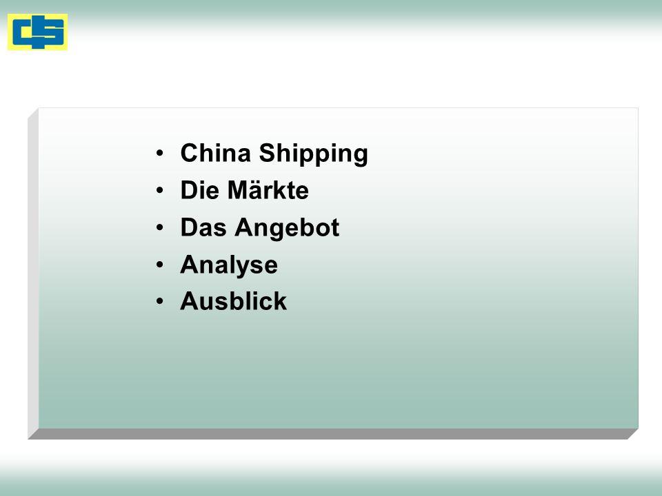 China Shipping Die Märkte Das Angebot Analyse Ausblick