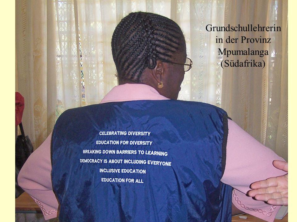 Grundschullehrerin in der Provinz Mpumalanga (Südafrika)