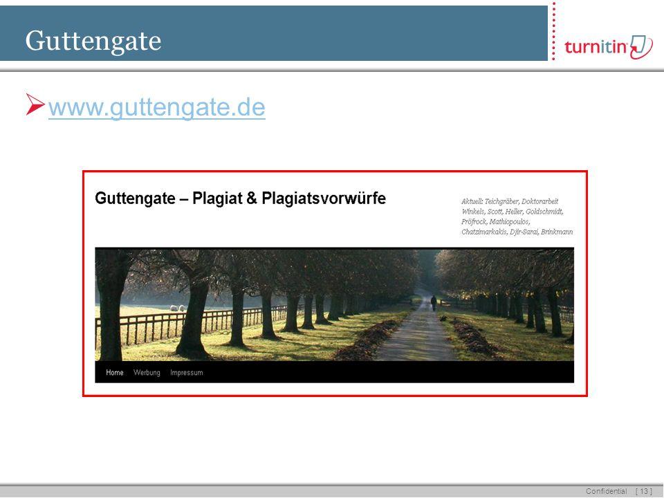 [ 13 ] Confidential Guttengate www.guttengate.de