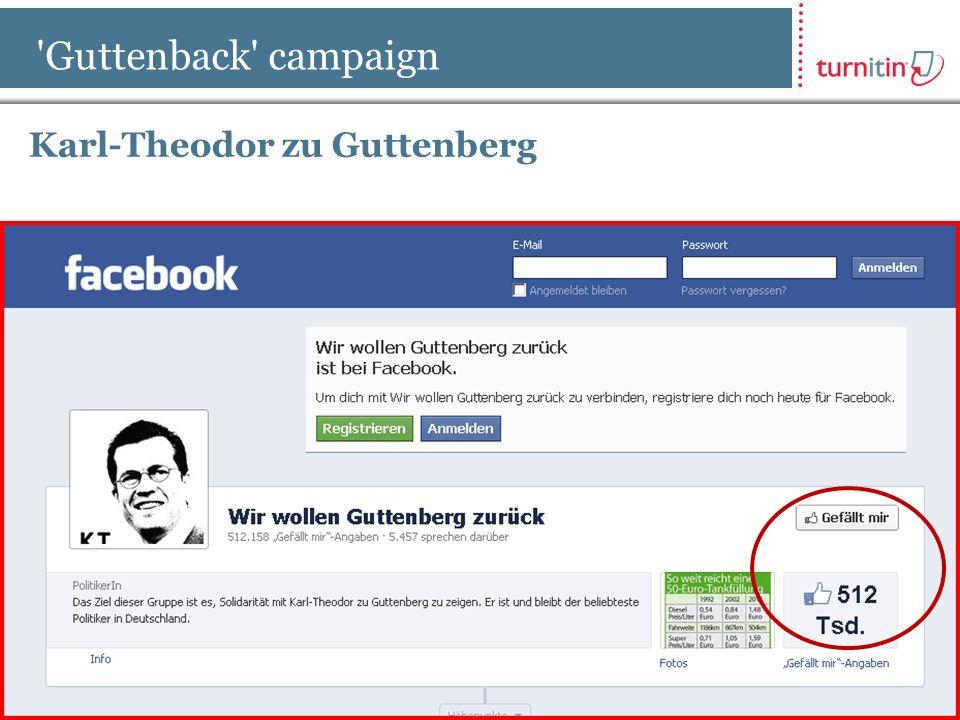 [ 3 ] Confidential Guttenback campaign Karl-Theodor zu Guttenberg