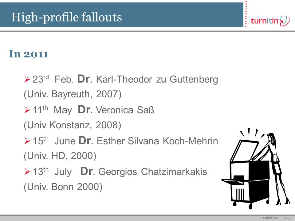 [ 5 ] Confidential High-profile fallouts In 2011 23 rd Feb.
