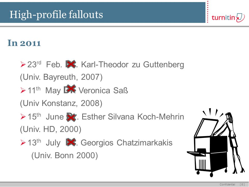 [ 6 ] Confidential High-profile fallouts In 2011 23 rd Feb.