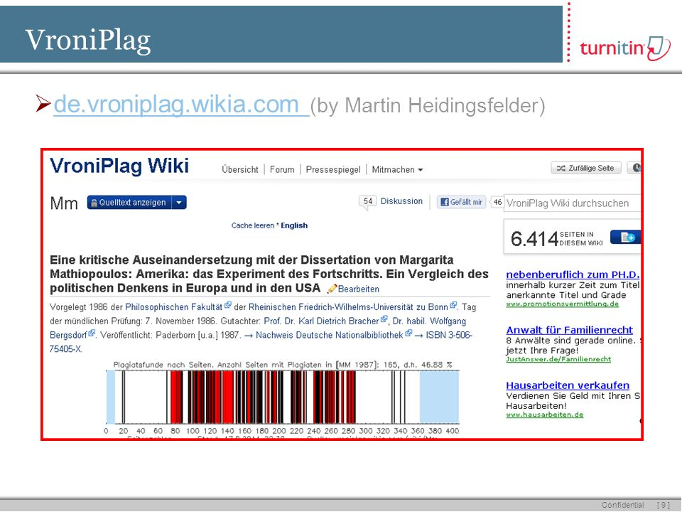 [ 9 ] Confidential VroniPlag de.vroniplag.wikia.com (by Martin Heidingsfelder)