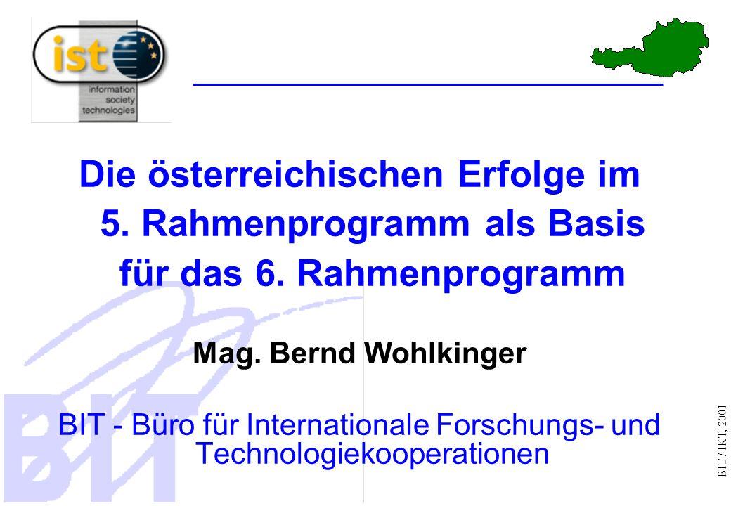 BIT / IKT, 2001 Die österreichischen Erfolge im 5.