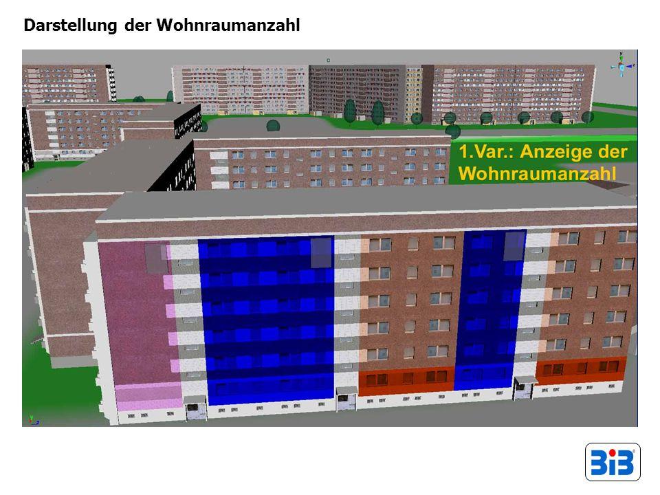 Darstellung der Wohnraumanzahl