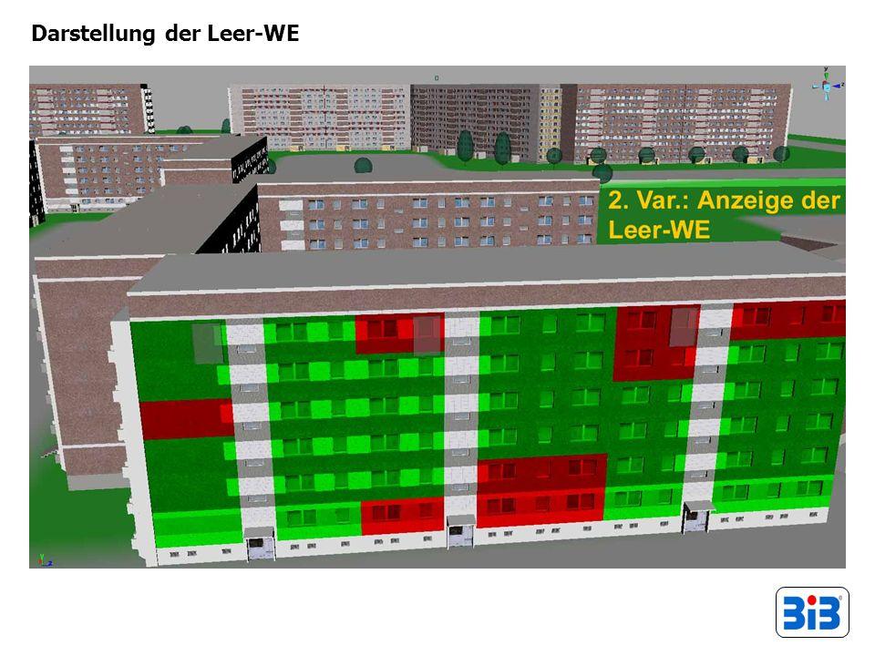 Darstellung der Leer-WE
