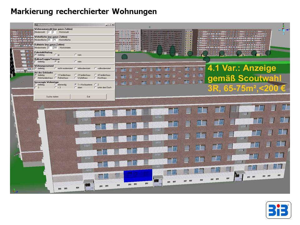 Markierung recherchierter Wohnungen