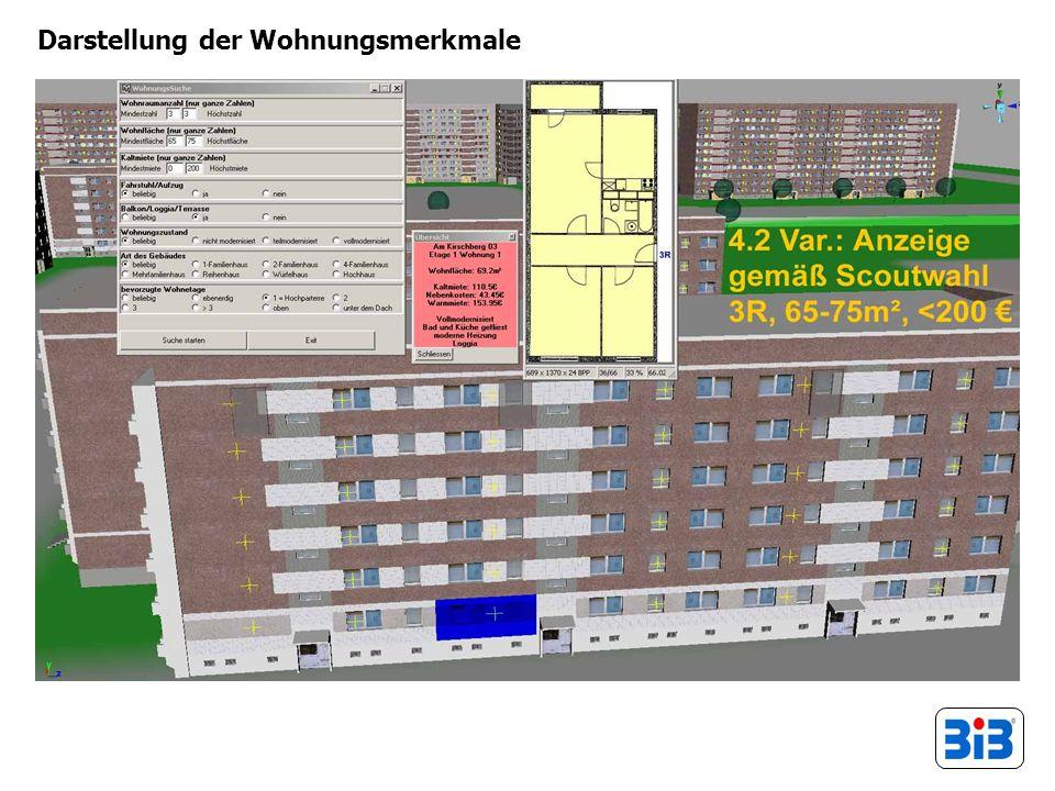 Darstellung der Wohnungsmerkmale