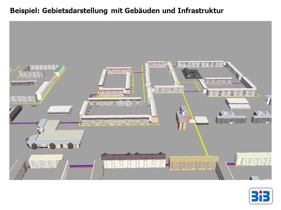 Beispiel: Gebietsdarstellung mit Gebäuden und Infrastruktur