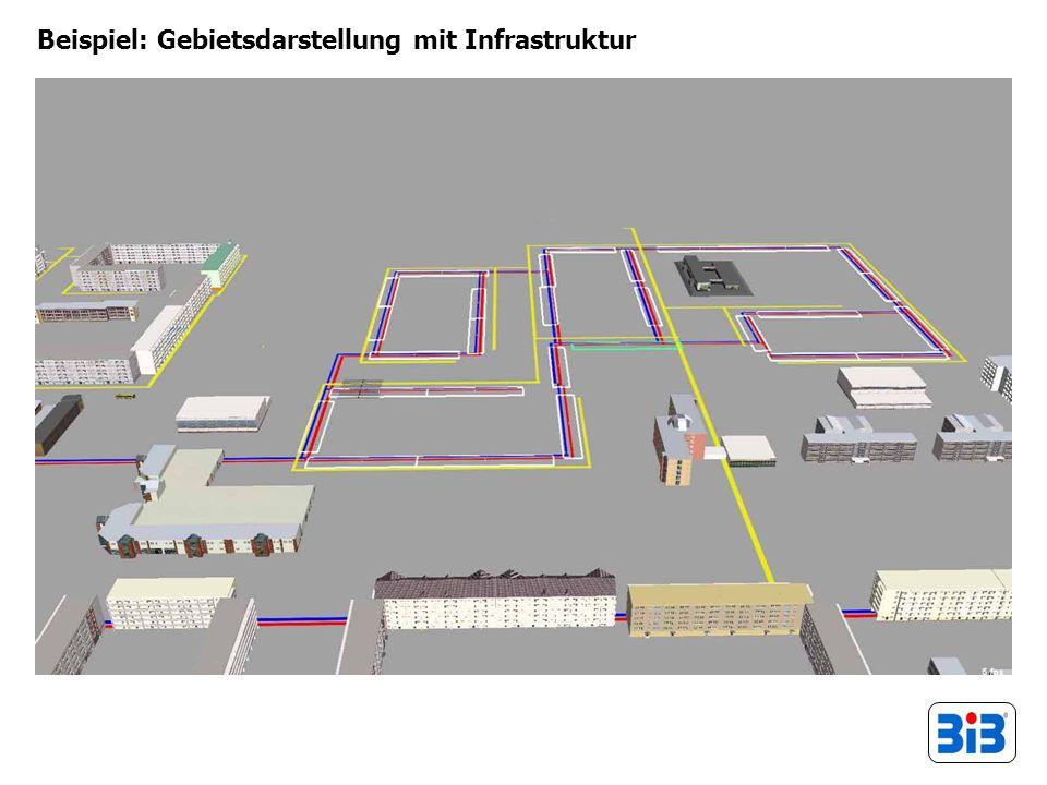 Beispiel: Gebietsdarstellung mit Infrastruktur