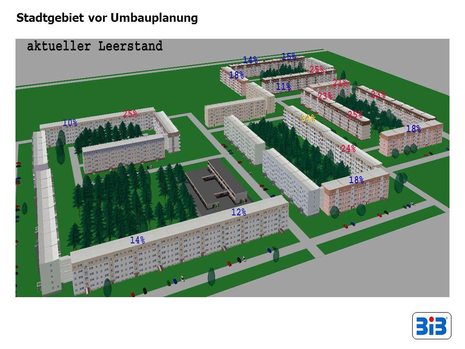 Stadtgebiet vor Umbauplanung