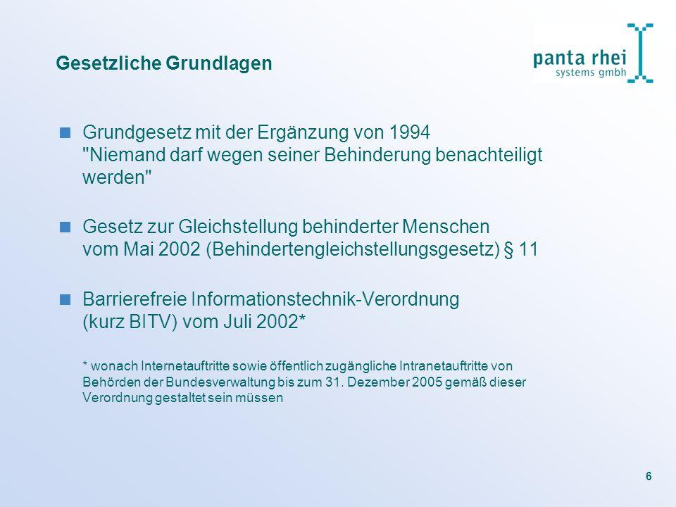 6 Gesetzliche Grundlagen Grundgesetz mit der Ergänzung von 1994