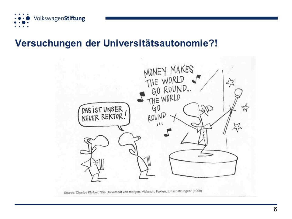 6 Versuchungen der Universitätsautonomie !