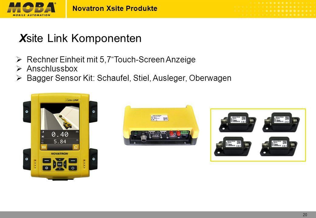 20 Rechner Einheit mit 5,7Touch-Screen Anzeige Anschlussbox Bagger Sensor Kit: Schaufel, Stiel, Ausleger, Oberwagen Novatron Xsite Produkte Xsite Link
