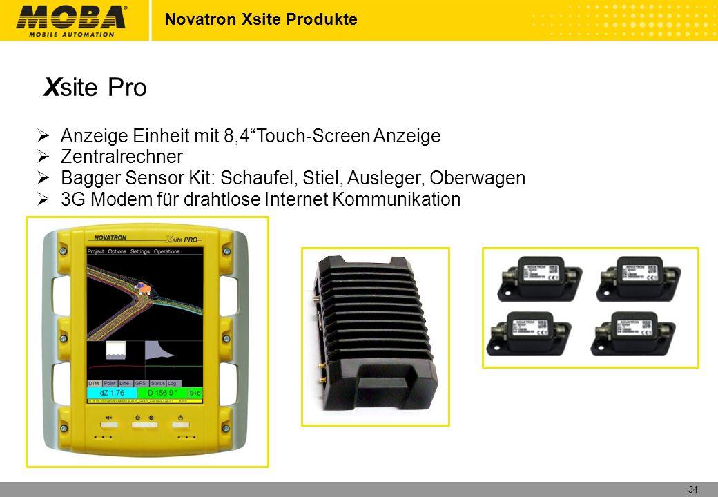 34 Novatron Xsite Produkte Xsite Pro Anzeige Einheit mit 8,4Touch-Screen Anzeige Zentralrechner Bagger Sensor Kit: Schaufel, Stiel, Ausleger, Oberwage