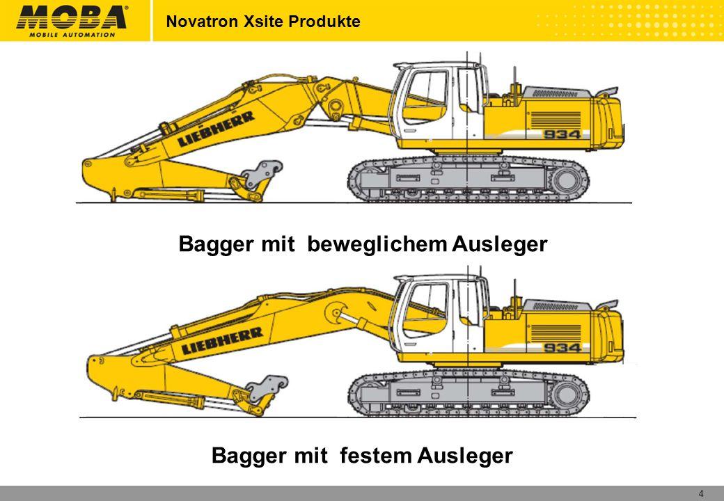 4 Novatron Xsite Produkte Bagger mit beweglichem Ausleger Bagger mit festem Ausleger