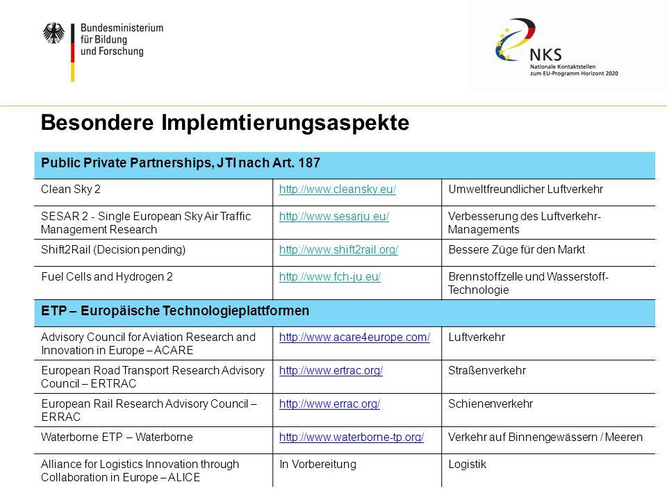W. Diekmann, IHK Trier, 05.02.2014 Besondere Implemtierungsaspekte Public Private Partnerships, JTI nach Art. 187 Clean Sky 2http://www.cleansky.eu/Um
