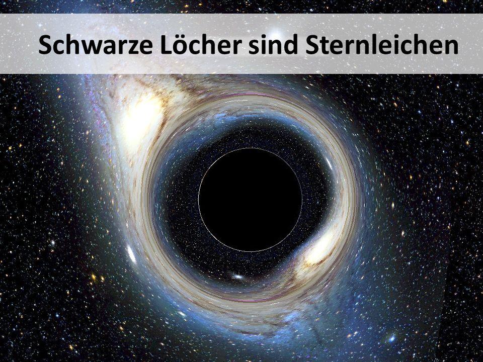 Schwarze Löcher sind Sternleichen