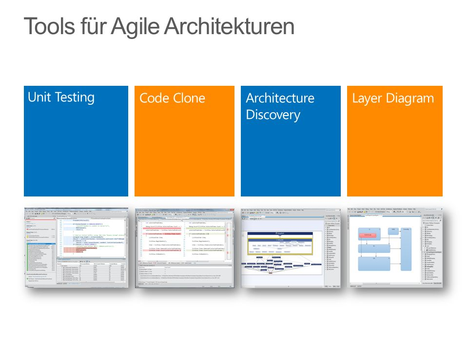 Agile Design Prinzipien nutzen Code for Refactoring Unit Tests vereinfachen das Refactoring, da die Funktionalität schnell überprüft werden kann.