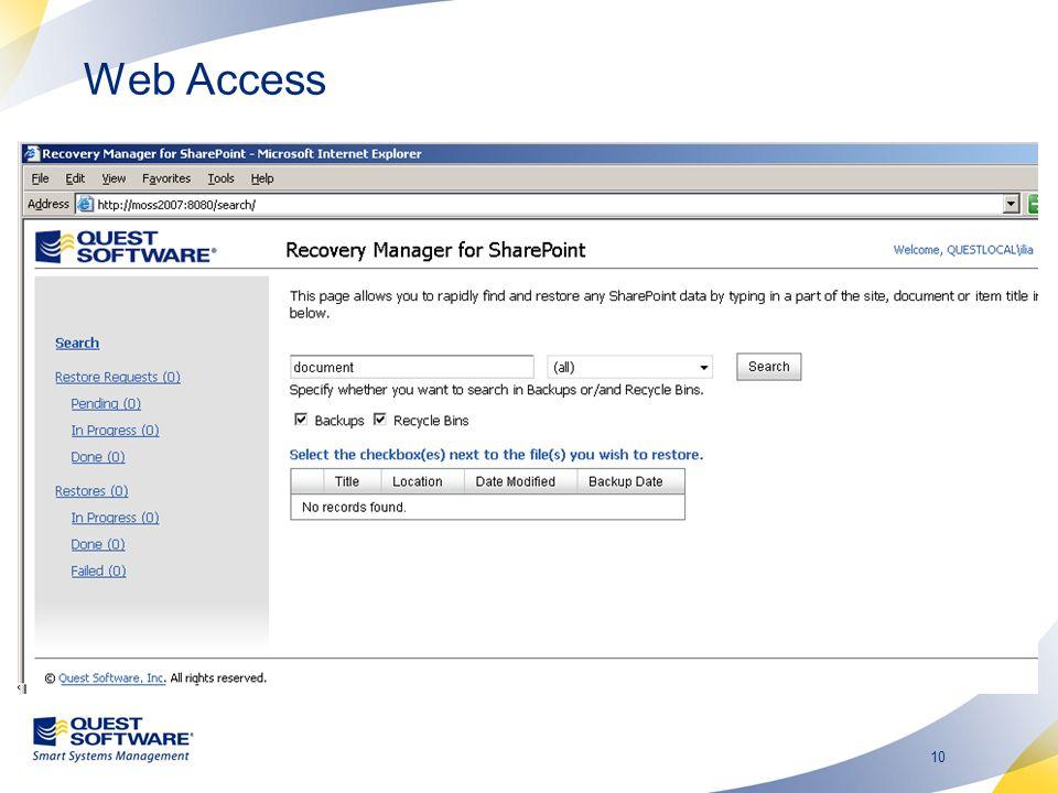 10 Web Access