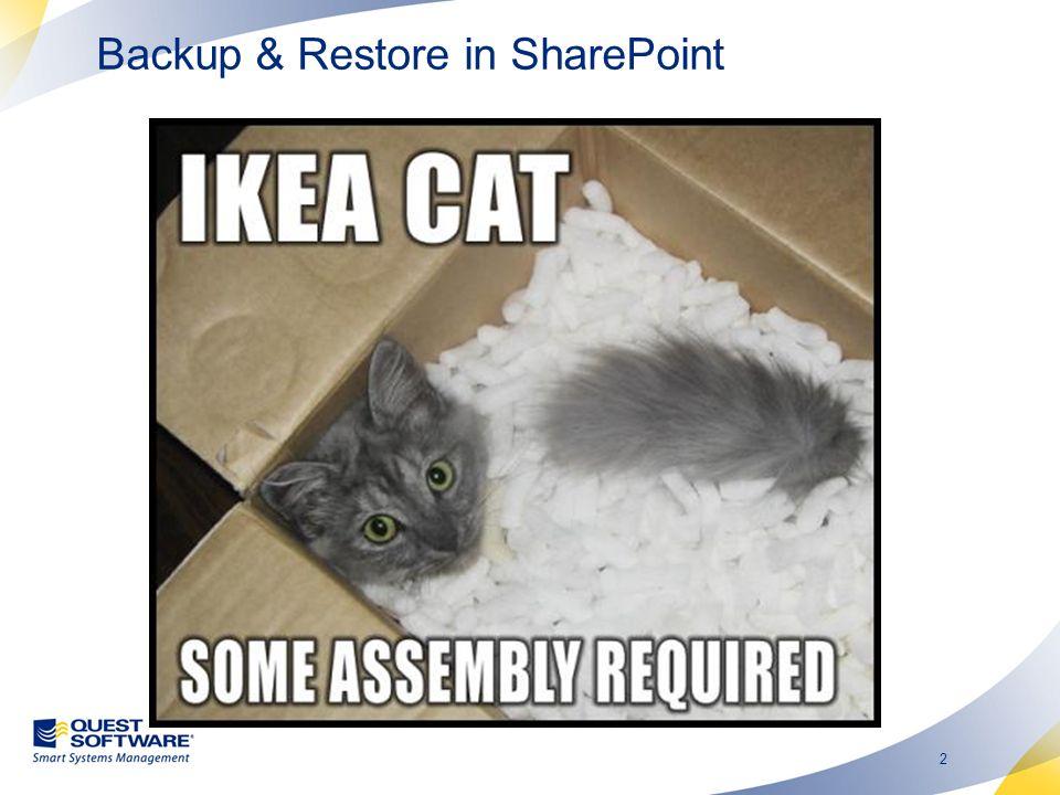 3 Warum ist Backup & Restore in SharePoint 2007 schwierig.