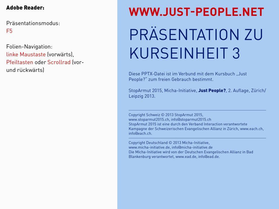JUST PEOPLE?3: MISSION ROLLENSPIELREFERATKLEINER LEBENSSTILTEST Besinnlicher Schluss Kursbuch Seite 10