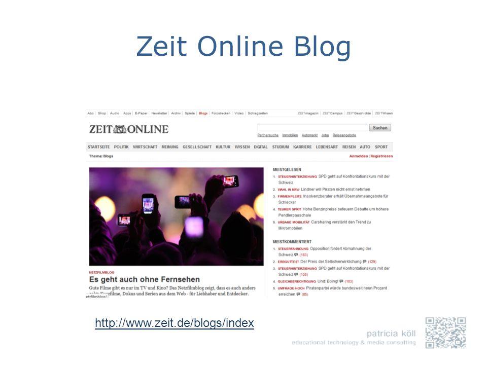 Zeit Online Blog http://www.zeit.de/blogs/index