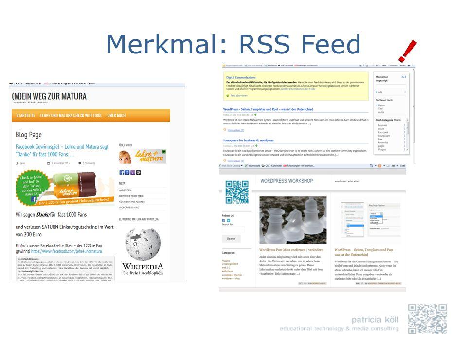 Merkmal: RSS Feed