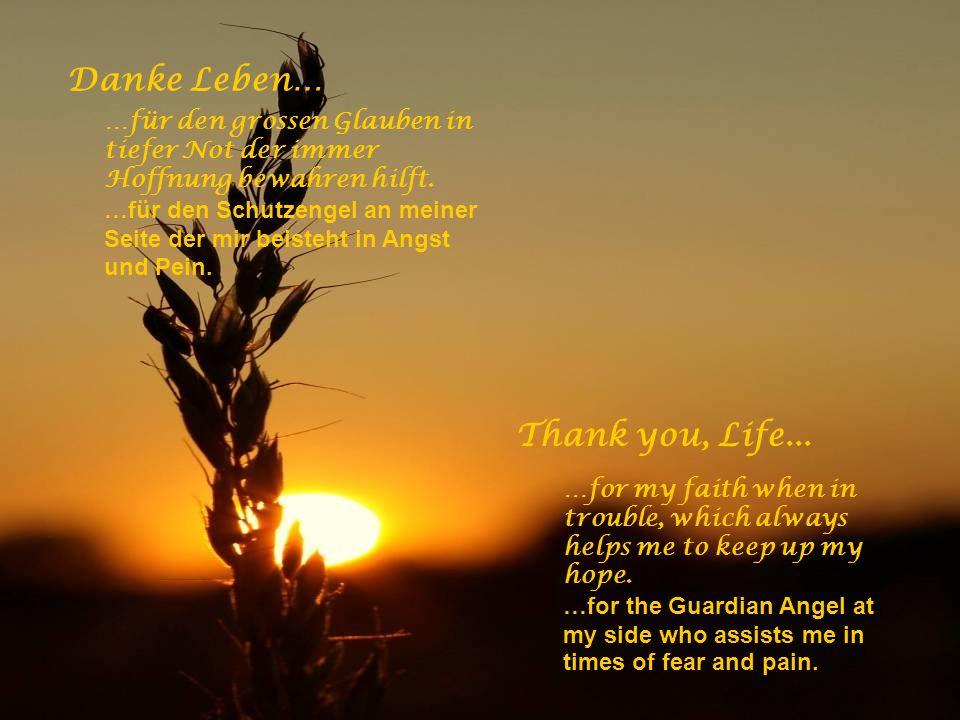 Danke Leben… …für das Lied in meinem Herzen, das Lächeln auf meinen Lippen und die Freude in meinen Händen. Thank you, Life... …for the song in my hea