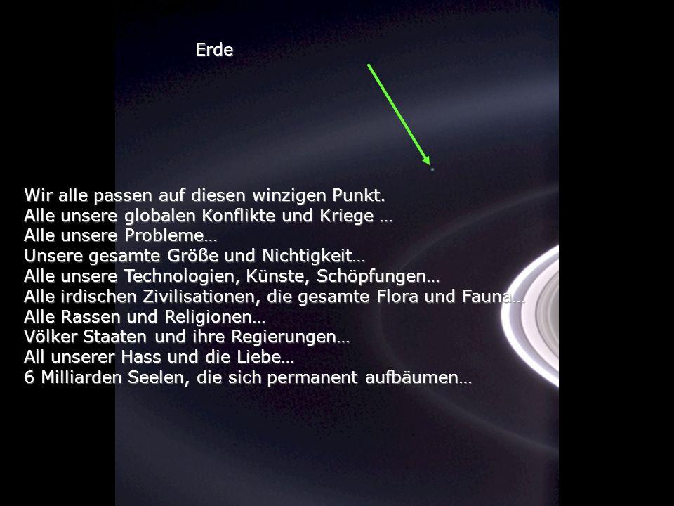 Betrachte einmal dieses Foto Es ist von der Sonde Cassini- Huygens gemacht worden, während sie sich den Saturnringen näherte während sie sich den Satu