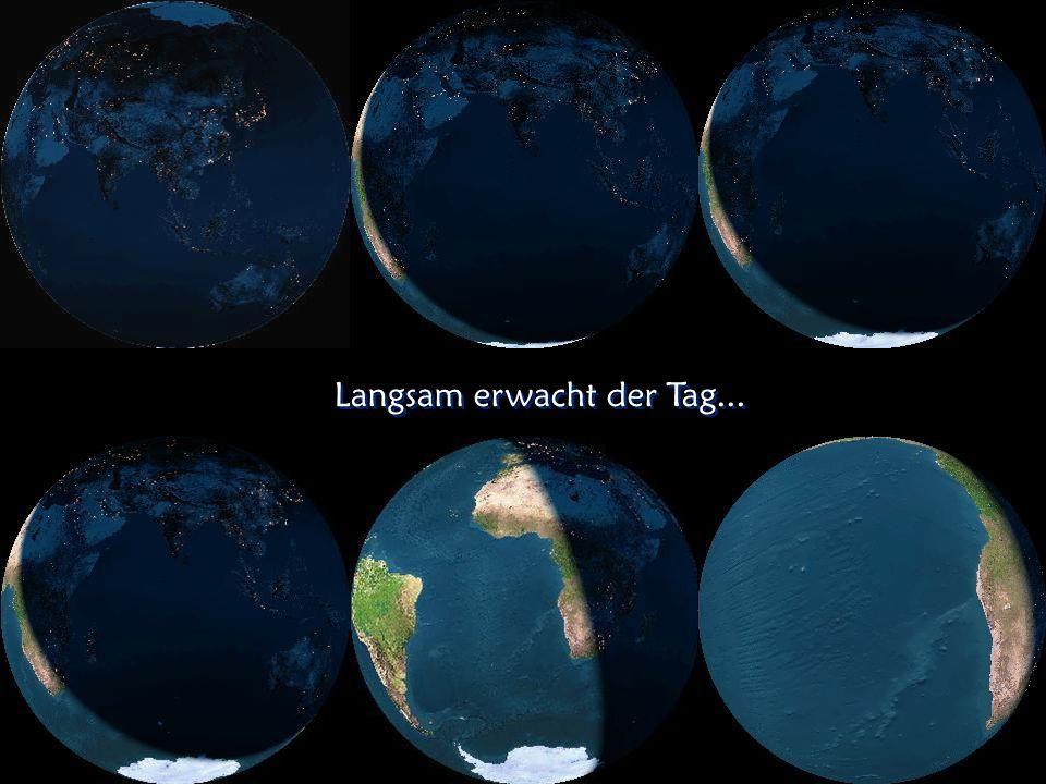 Die erleuchtete Erde bei Nacht