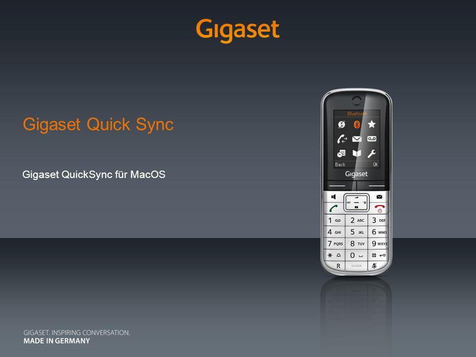Gigaset Quick Sync Gigaset QuickSync für MacOS
