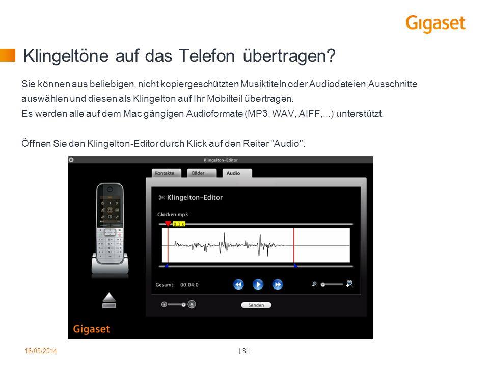 Klingeltöne auf das Telefon übertragen? Sie können aus beliebigen, nicht kopiergeschützten Musiktiteln oder Audiodateien Ausschnitte auswählen und die