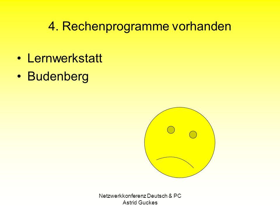 Netzwerkkonferenz Deutsch & PC Astrid Guckes 4.